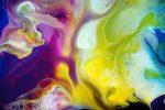 Purple & Yellow Fluid Acrylic Mix