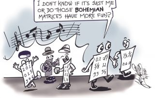 Bohemian Matrices cartoon