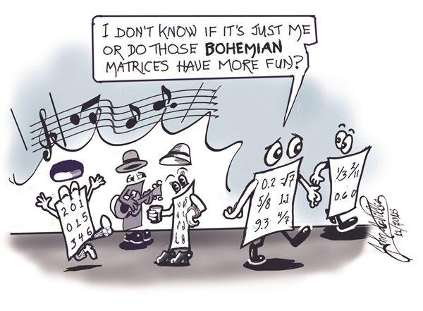 Bohemian Matrices cartoon