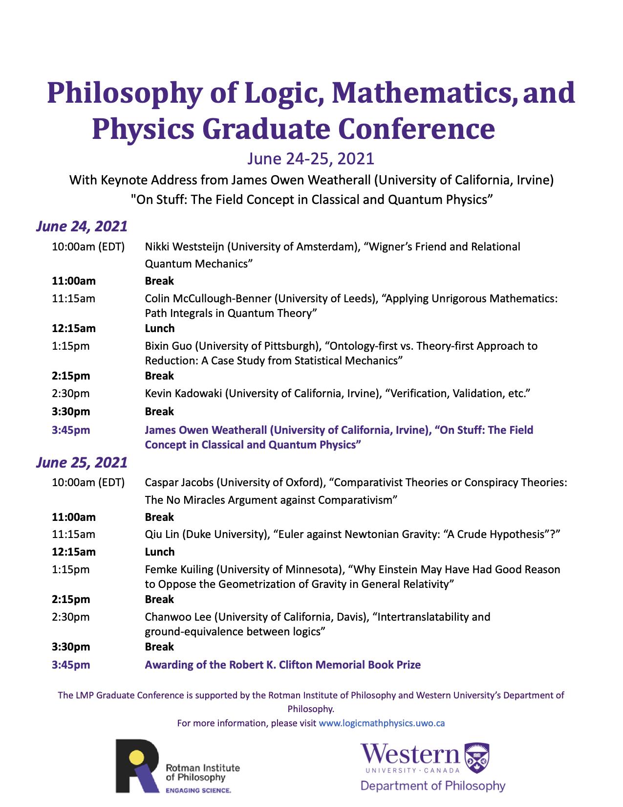 LMP 2021 conference program - revised version