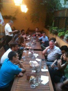 VISU members meeting at a Viennese restaurant (8 July 2013).