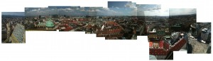 Panoramic collage of Vienna; view from Stephansdom. (6 July 2013)