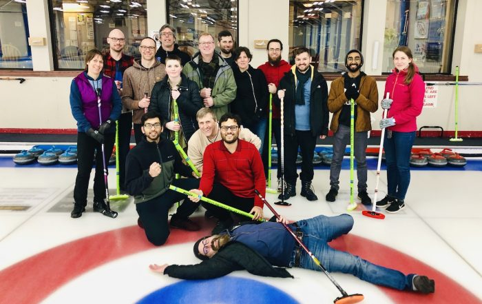 Rotman members at London Curling Club