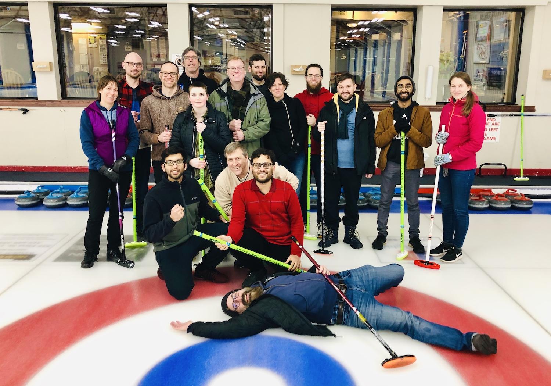 Rotman members at London Curling Club