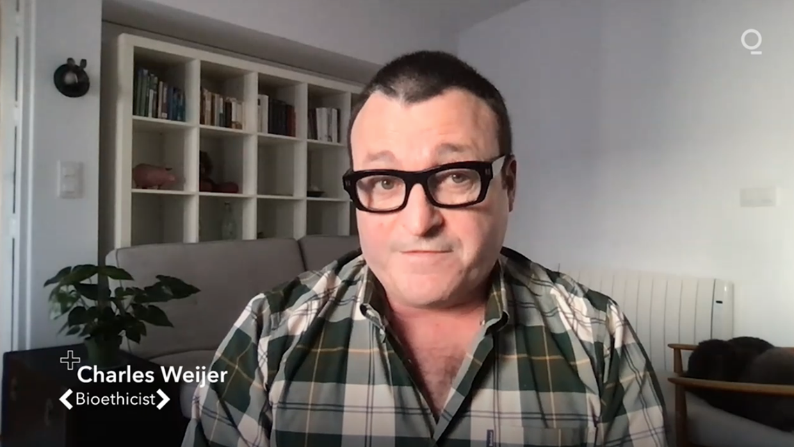 Charles Weijer in an episode of Bloomberg's Quicktake