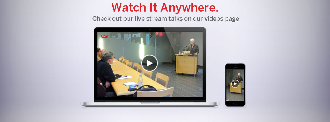 a live stream of a Rotman Talk