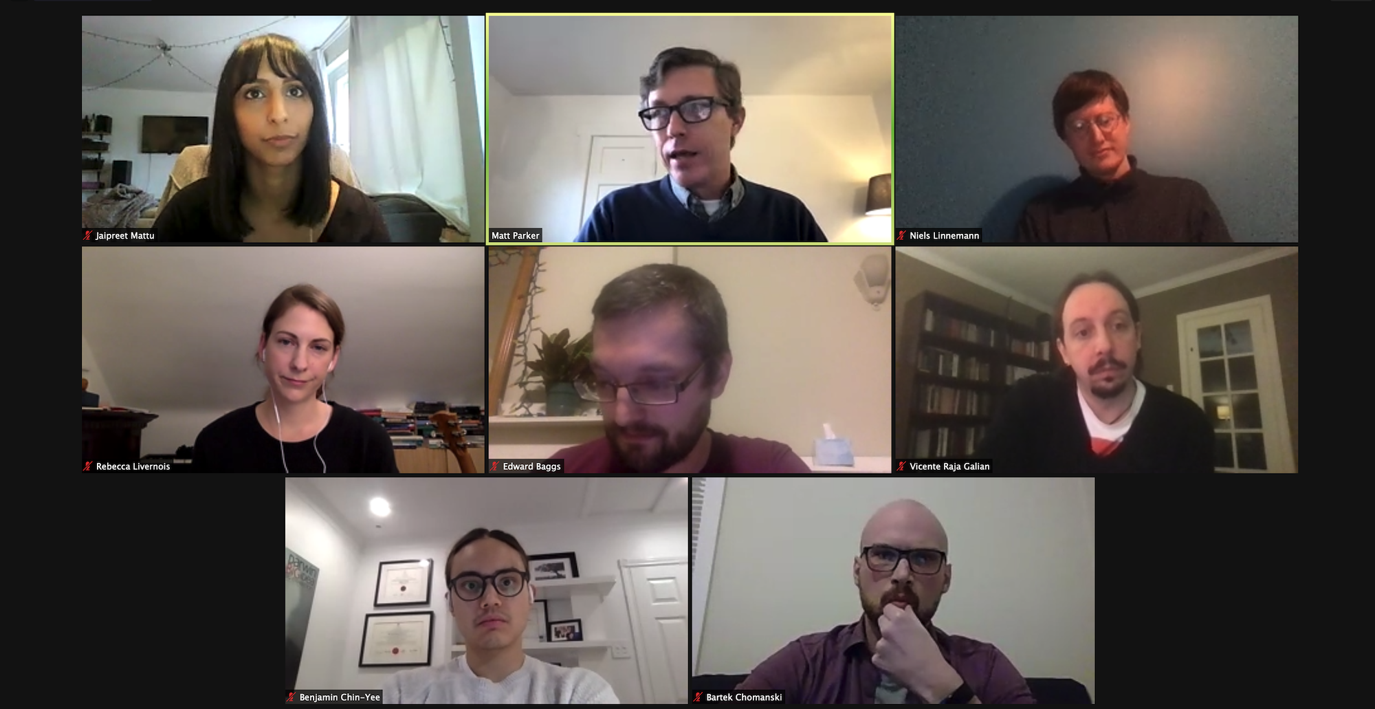 postdocs & host during roundtable on zoom