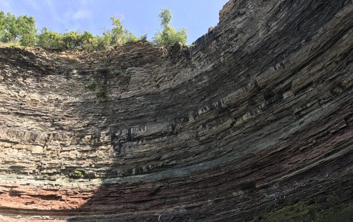 Niagra escarpment cliff face